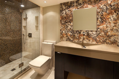 MODERN RIVERSIDE CONDO GUEST BATH - HOLLY WIEGMANN - DESIGN 51 STUDIO