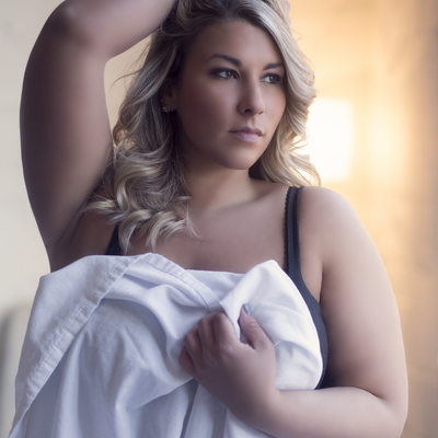 plus sized boudoir session//stl mo