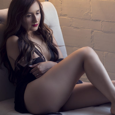 sexy black lingerie//boudoir by tracy brown//stl