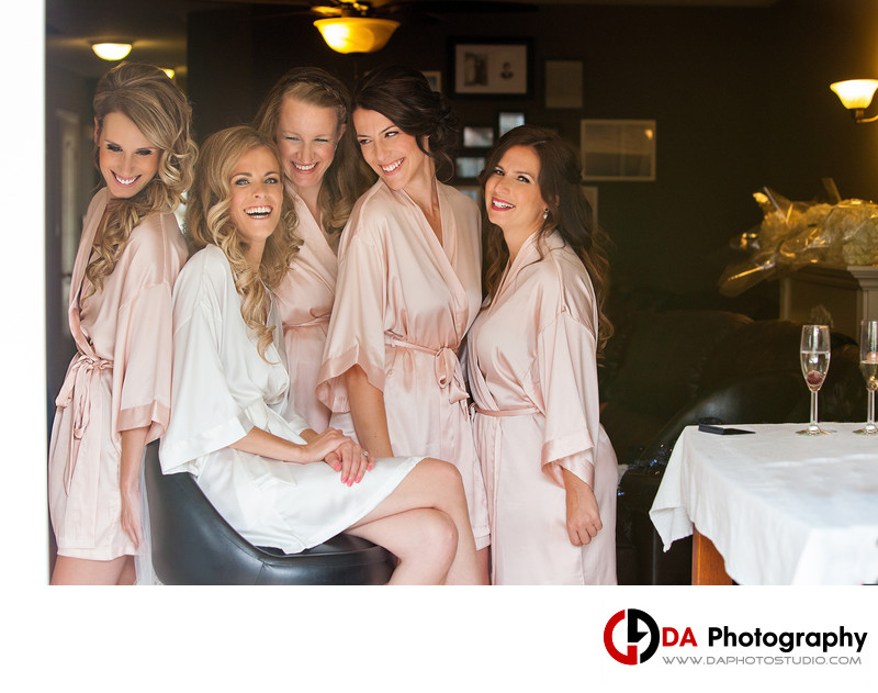 Bridesmaids at Carmens Banquet Centre
