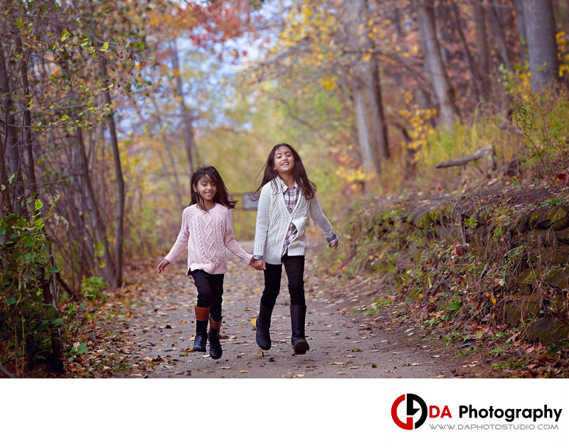 Fall Children Pictures at Heart Lake Conservation Area