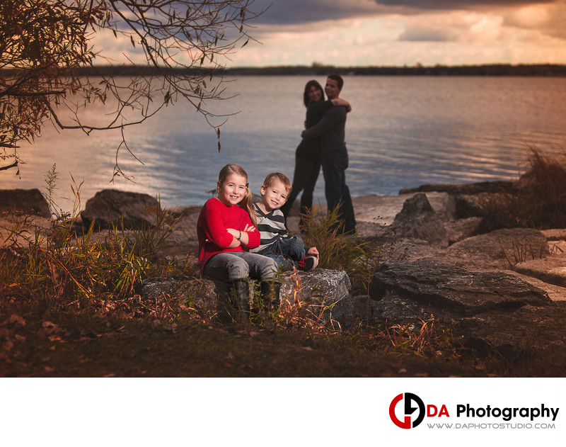 Sunset at Beach Family Photos in Belleville