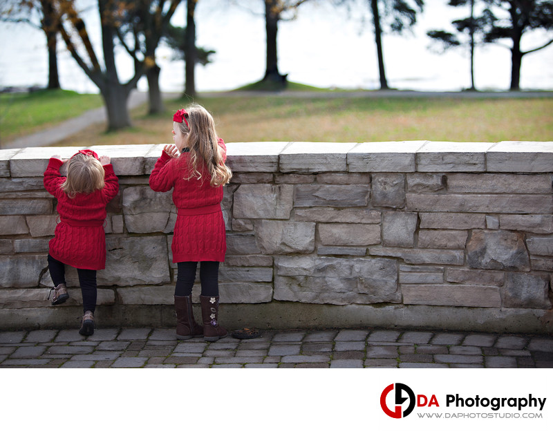 Siblings Portrait in Fall at Paletta Mansion