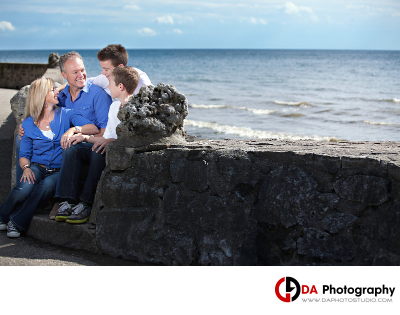 Beach Family Portrait at Gairlich Gardens in Oakville