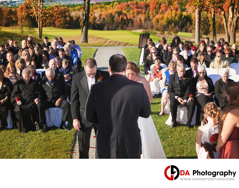 Outdoor Wedding Ceremonies at Tangle Creek Golf