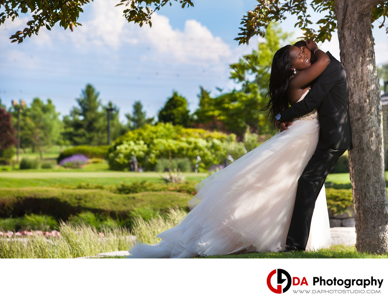 Bride & Groom at Deer Creek Golf and Banquet in Ajax