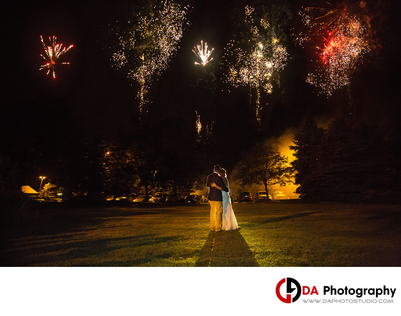 Brampton Outdoor Weddings with Fireworks