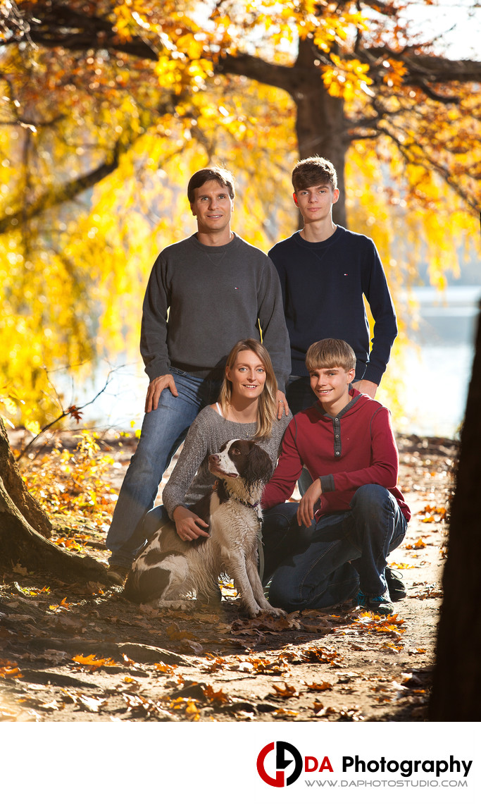 Sunset Family Portrait in Fall at Heart Lake in Brampton