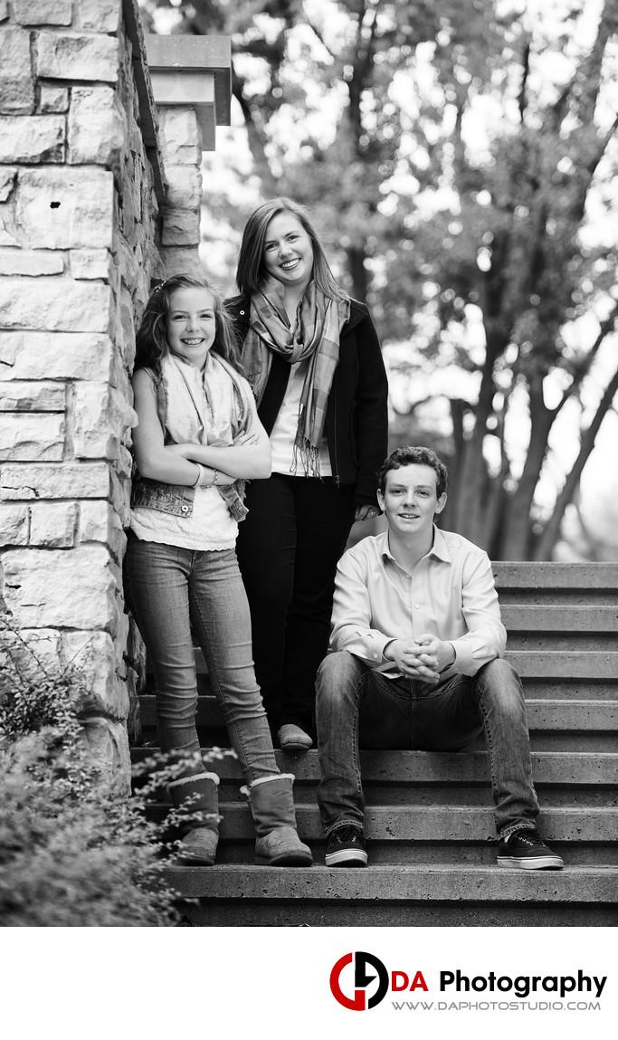 Contemporary Portrait of Siblings in Burlington
