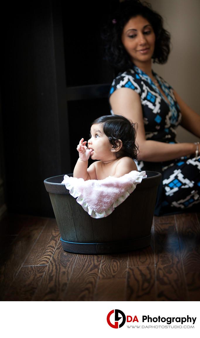Baby Girl Portrait in Woodbridge