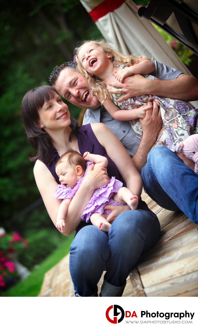 Fun Family Portraits in Burlington