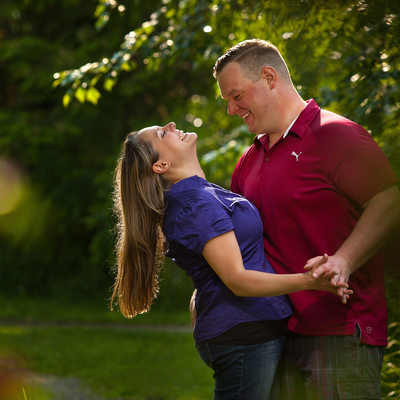 Fun Engagement Photos in Calendon