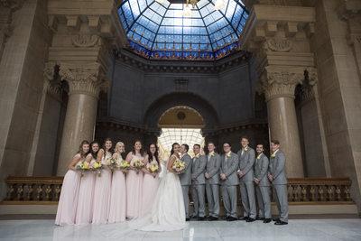 Indiana State House Wedding Indianapolis