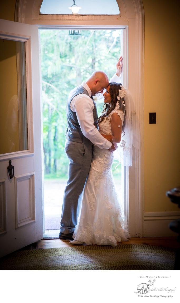 Roxbury NY wedding private moment bride and groom