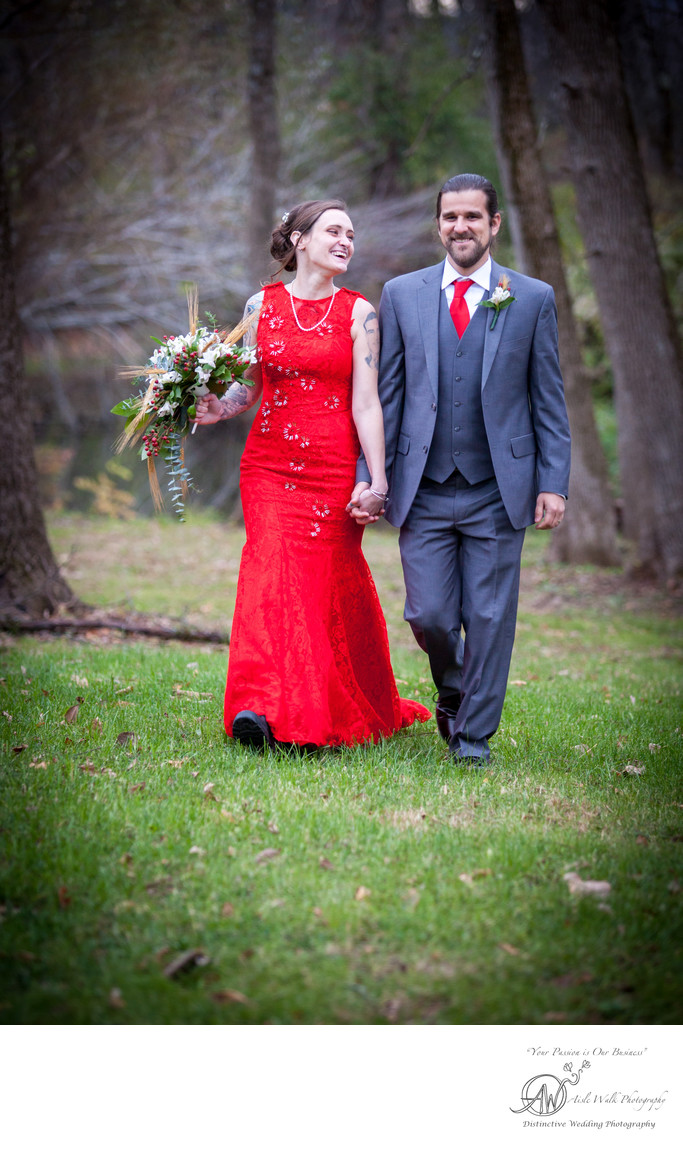 albany ny wedding photography bride wears red