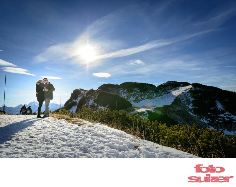 Verlobung auf dem Untersberg bei Salzburg