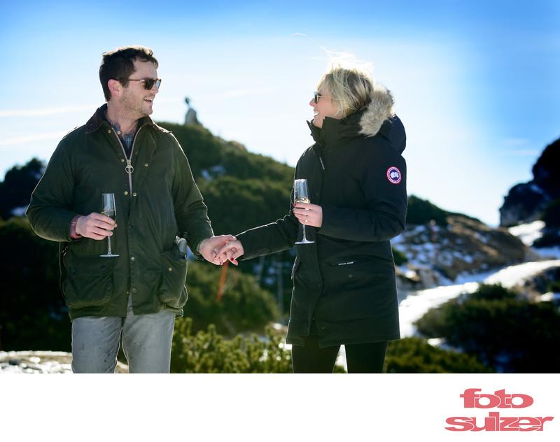 Verlobungsshooting am Untersberg