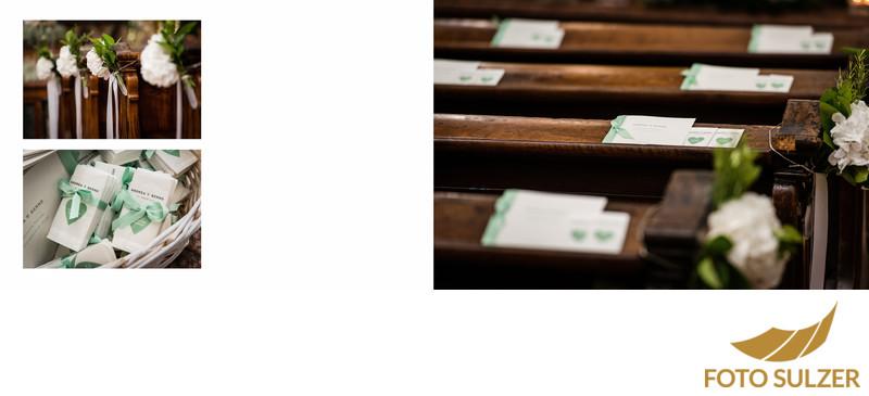 Blumenschmuck und Details in der Stiftskirche Sankt Peter in Salzburg