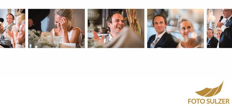 Reaktionen auf Ansprachen bei Hochzeit im Schloss Hellbrunn