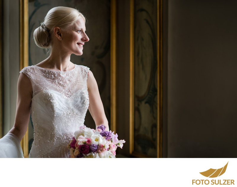 Braut im Schloss Leopoldskron in Salzburg