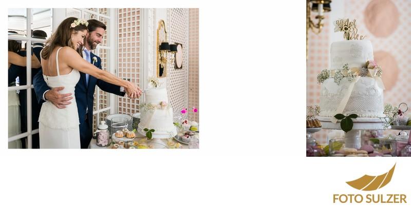 Hochzeit Hotel Sacher - Hochzeitstorte ansc