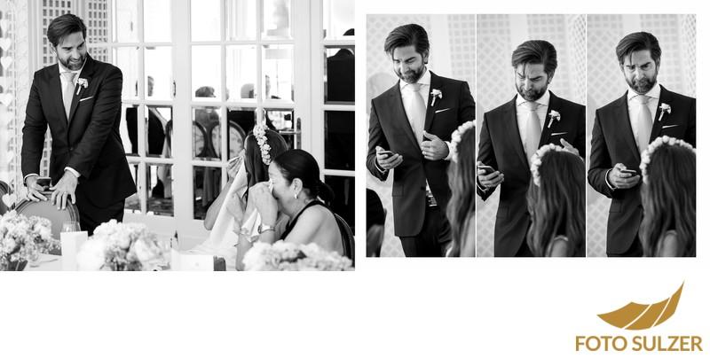 Hochzeit Hotel Sacher - Ansprache Bräutigam und Tränen bei Braut und Mutter