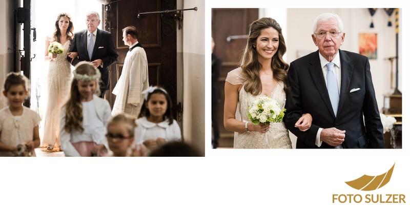 Hochzeit Basilika Maria Plain - Einzug der Braut