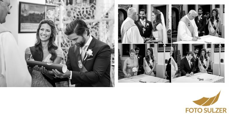 Hochzeit Basilika Maria Plain - Unterschriften