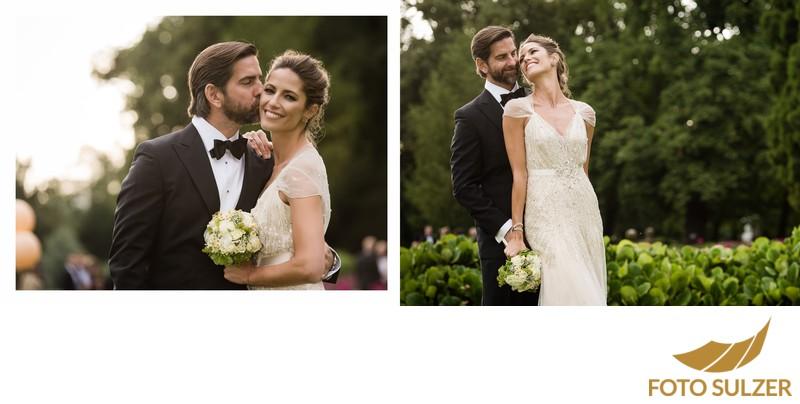 Hochzeit Schloss Leopoldskron - Brautpaar im Park