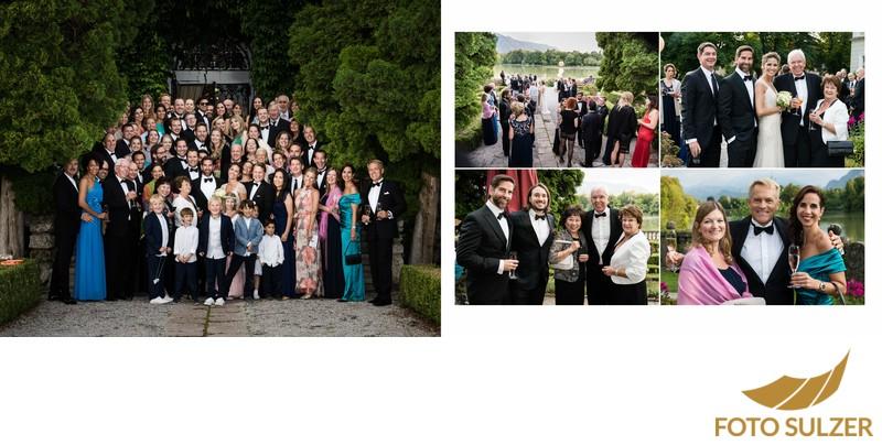 Hochzeit Schloss Leopoldskron - Gruppenfoto