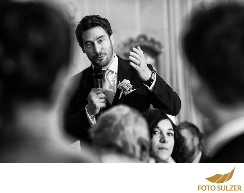 Rede vom Trauzeugen bei Hochzeit in Salzburg