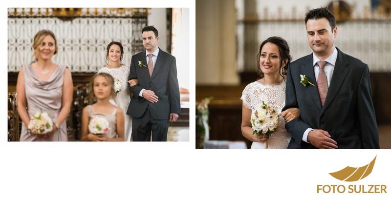 Hochzeit St. Zeno Kirche Bad Reichenhall - Einzug der Braut