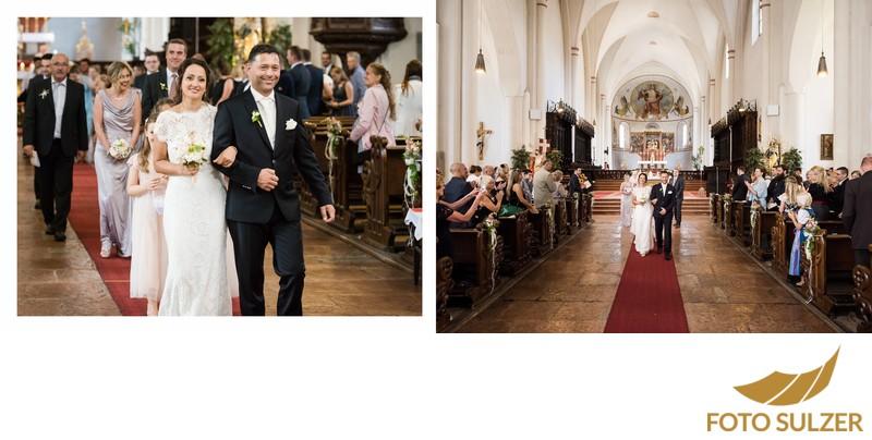 Hochzeit St. Zeno Kirche Bad Reichenhall -  Auszug