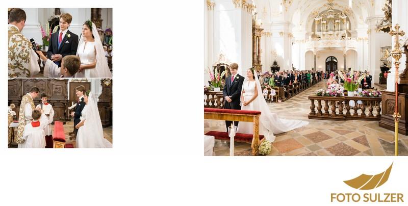 Hochzeit bei München Kloster Schäftlarn - Trauung