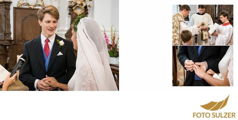 Hochzeit bei München Kloster Schäftlarn - Eheschwur