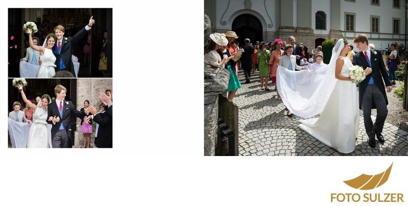 Hochzeit bei München Kloster Schäftlarn - Freude