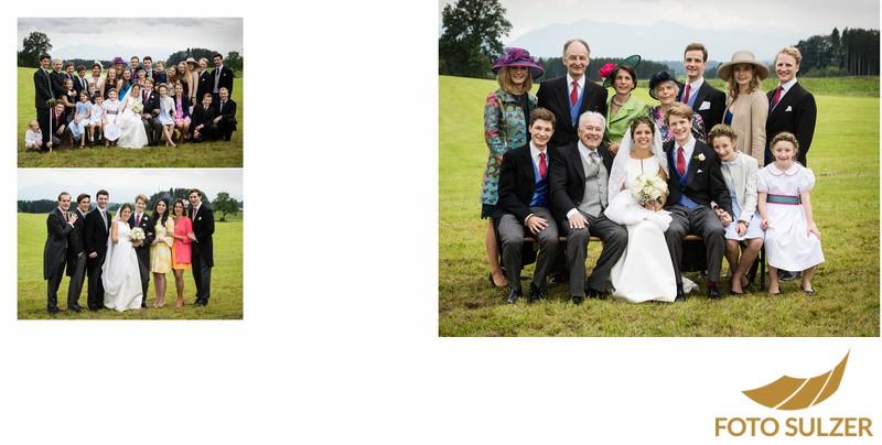Hochzeit südlich von München - Gruppenbilder