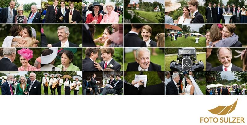 Hochzeit südlich von München -  Empfang im Freien