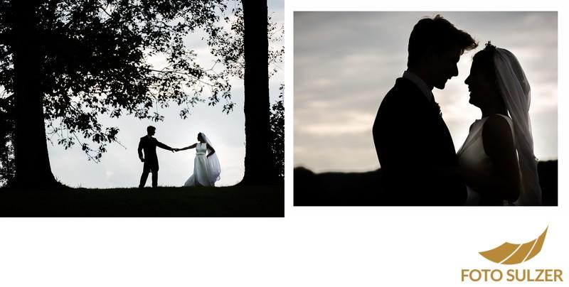 Hochzeit südlich von München - Brautpaar Shooting