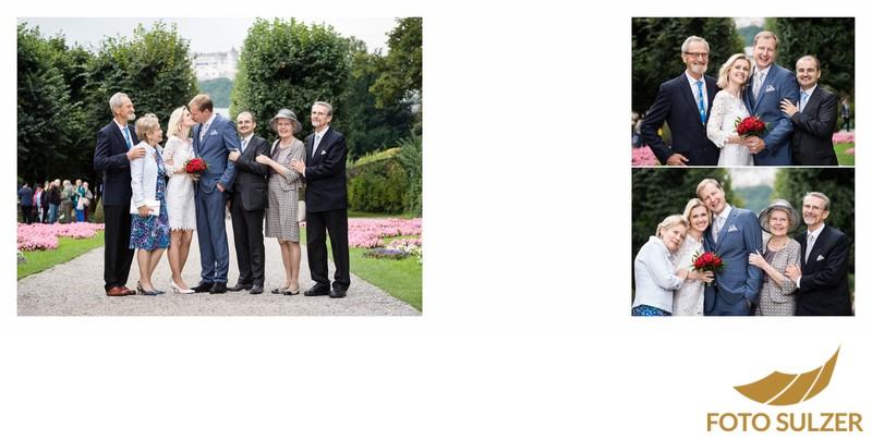 Hochzeit Mirabellgarten - Familienfotos
