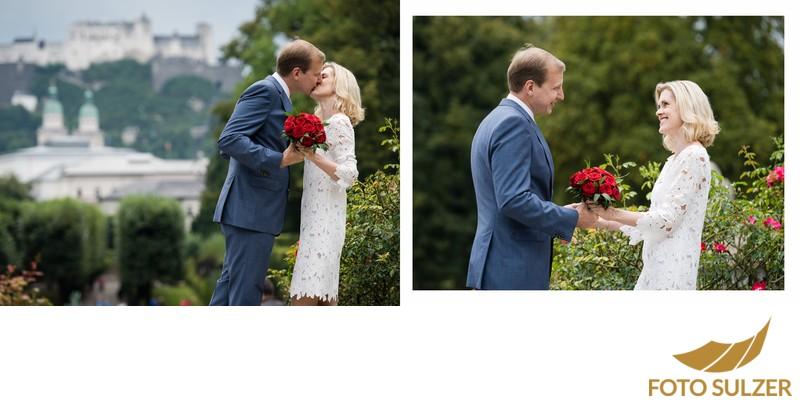 Hochzeit Mirabellgarten - Brautpaarshooting