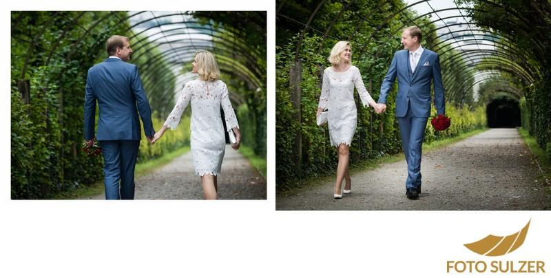Hochzeit Mirabellgarten - ungestellte Aufnahmen