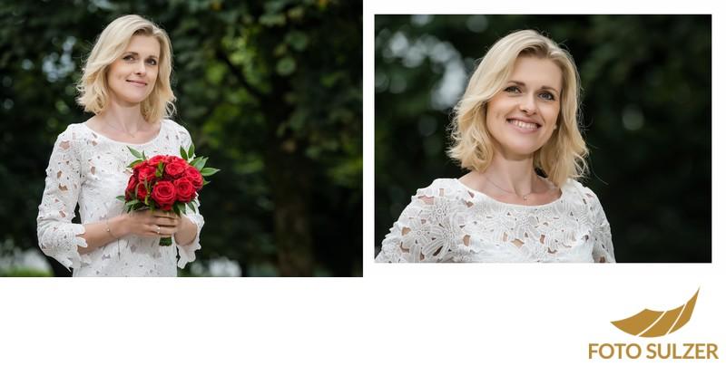 Hochzeit Mirabellgarten - Porträt der Braut