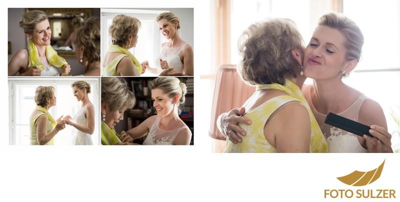 Hochzeit Salzburg - Getting Ready - Brautmutter mit Braut