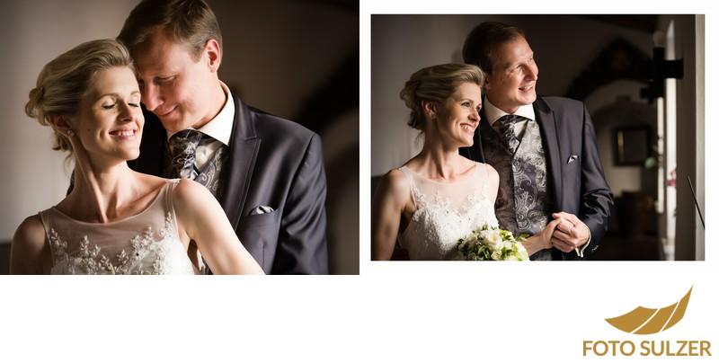 Hochzeit Kapuzinerkirche - romantische Portraits