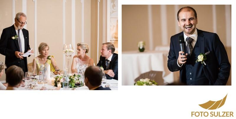Hochzeit Stiftskeller Salzburg - Tischrede des Trauzeugen