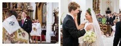Hochzeit bei München Kloster Schäftlarn - Braut und Bräutigam