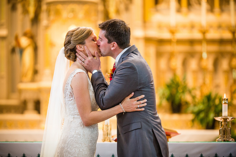Oshkosh Wedding Photography First Kiss