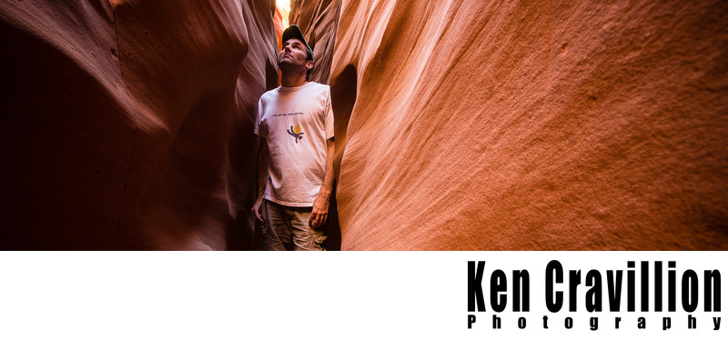 Wedding Photographer Spooky Slot Canyon