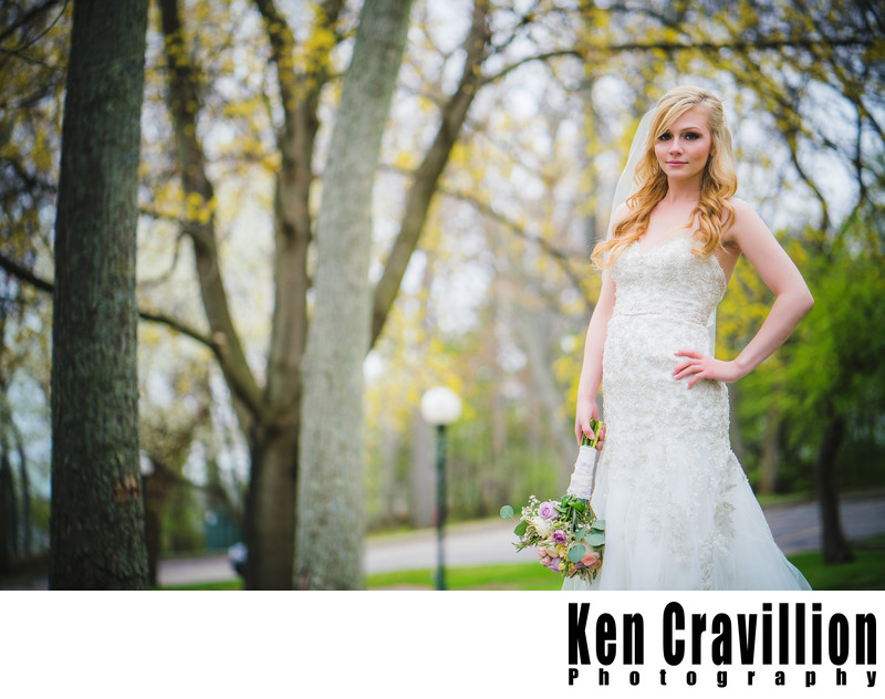 Heidel House Bridal Portrait Photograph in April
